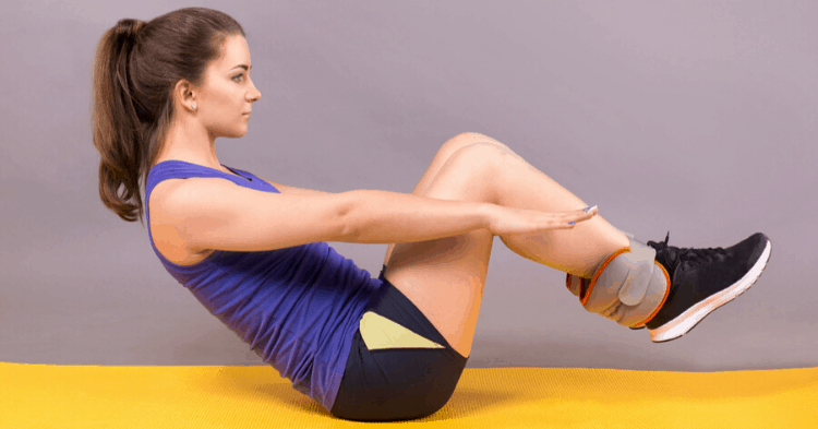 ankle weight exercises for abs