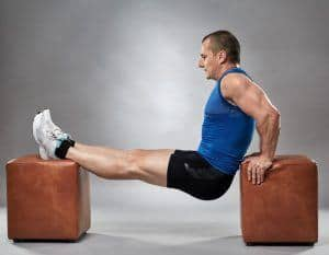 do dips with chair at home