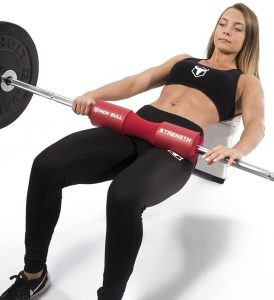 hip thrust with barbell pad