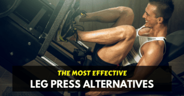 a man doing leg press exercise