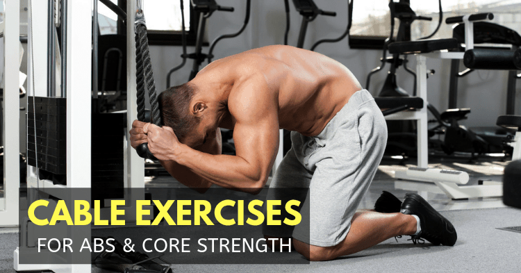 A man doing cable crunch exercise for abs