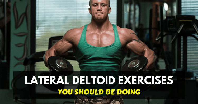 man doing middle delts exercises with dumbbell