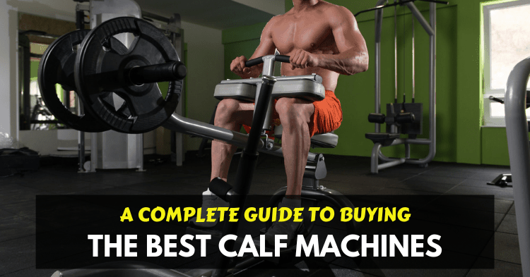 a man training on seated calf raise machine at home