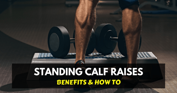 Training calf muscles with dumbbells