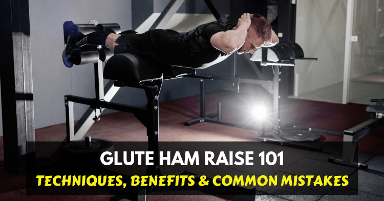 a man doing glute ham raise