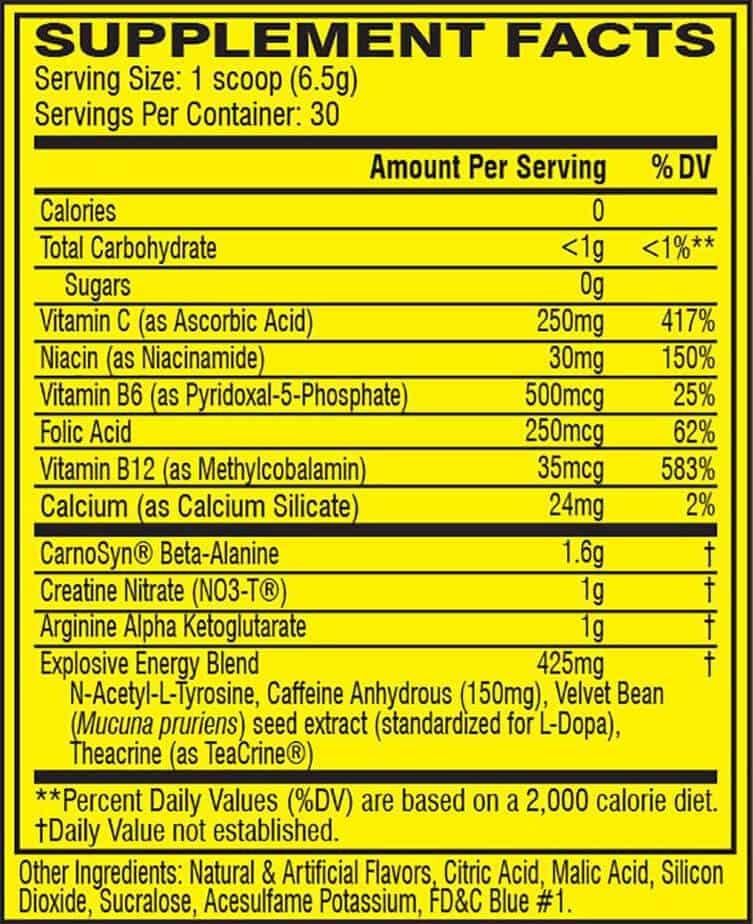 c4 original ingredients