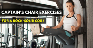 woman doing captains chair exercise