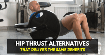 a man doing hip thrust exercise