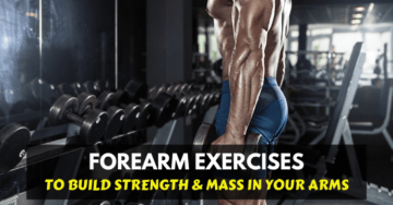 a man doing forearm exercises