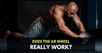 a man doing ab wheel exercise