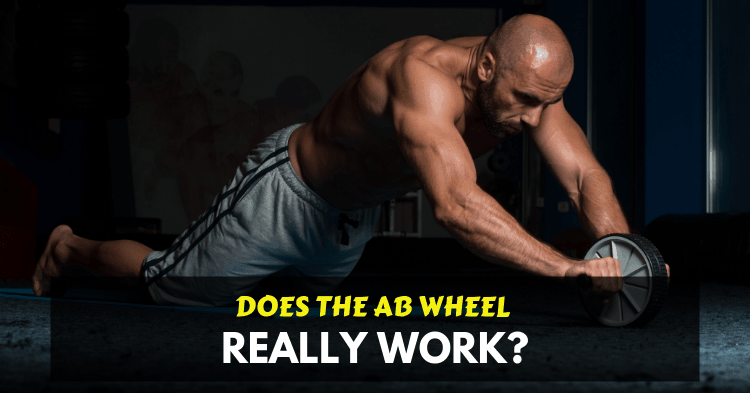 a man doing ab wheel exercise