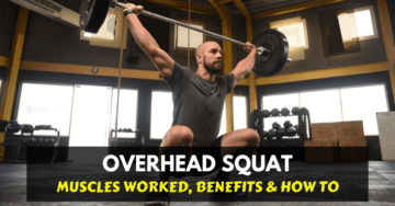 a man doing overhead squat exercise