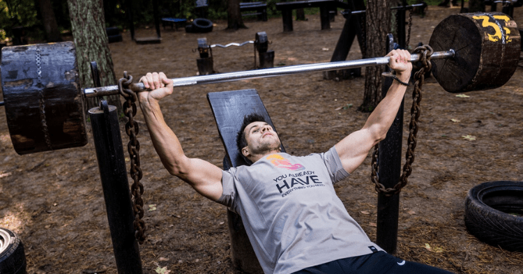 a man doing upper chest exercises
